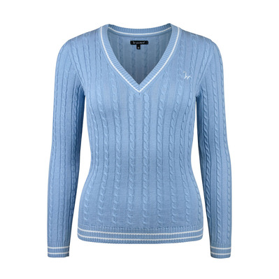 Isabell Werth - ZOPF - Pullover - Frauen - light blue/white