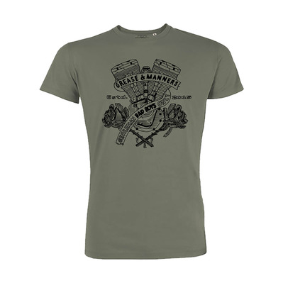 Vestons & Pistons - GREASE AND MANNERS - T-Shirt - Men's - khaki