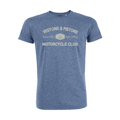 Vestons & Pistons - MOTORYCLE CLUB - T-Shirt - Men's - mid heather blue