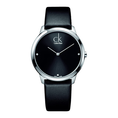 Calvin Klein - MINIMAL 3 DIAMONDS - Quartz Watch - Men's - black
