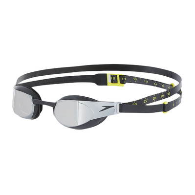 SPEEDO - FASTSKIN ELITE MIRROR - Swimming Goggles - black/grey