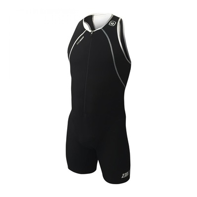 Z3ROD - USUIT FRONT ZIP - Trisuit - Men's - black/white