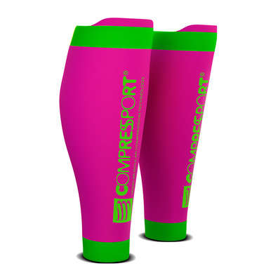 COMPRESSPORT - R2 V2 - Manchons rose fluo