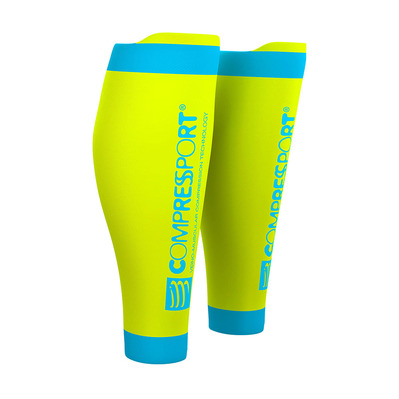 COMPRESSPORT - R2 V2 - Manchons de compression fluo yellow