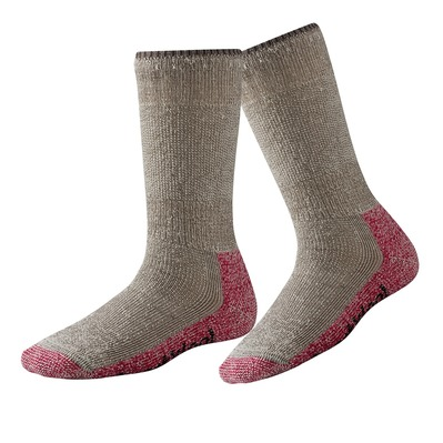 SMARTWOOL - MOUNTAINEERING EXTRA HEAVY CREW - Socks - Women's - taupe/bright pink