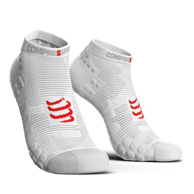 COMPRESSPORT - PRO RACING V3.0 RUN LOW - Calze white
