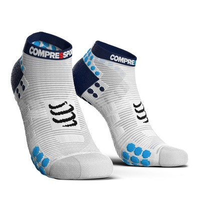 COMPRESSPORT - PRORACING V3 RUN LOW - Chaussettes white/blue