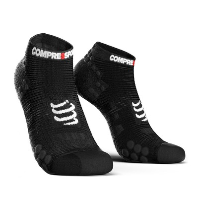 COMPRESSPORT - PRORACING V3 RUN LOW - Calze black